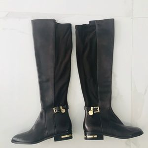 Michael Kors Hamilton Stretch Long Leather Boots
